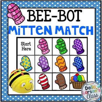 Bee Bot Mitten Match