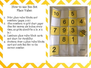 Bee-Bot Place Value
