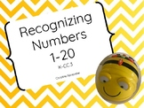 Bee-Bot Recognizing Numbers 1-20