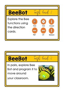 Bee Bot Task Cards