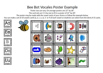 Bee Bot Vocales Juego - Bee Bot Spanish Vowels Game