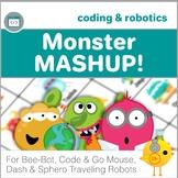 Bee-Bot, Code & Go Mouse, Dash, Sphero Robot Coding Activities - Monster Mashup