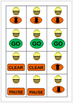 Bee-Bot prompt cards