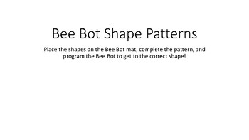 Bee Bots Pattern Game