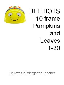 Bee-Bots counting numbers 1-20 pumpkins leaves fall ten frames Common Core MAT