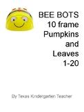 Bee-Bots counting numbers 1-20 pumpkins leaves ten frames