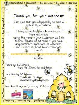 Bee Bucks Incentive Dollars Fourth Grade