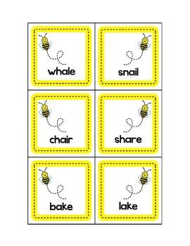 Bee Buddy Rhyming Cards