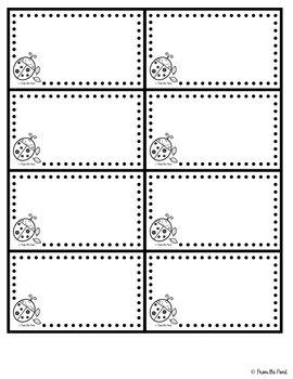 Classroom Decor - Bee Bug Butterfly - Blackline Printables