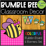 Bee Bulletin Board & Banners Set (Editable)