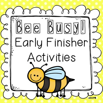 Early Finisher Activities - No Prep