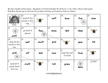 Bee Buzz Flossy Words Game & Nice Dice
