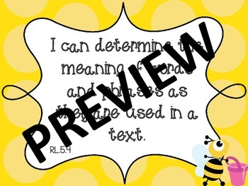 Bee COMBO Common Core and North Carolina Essential Standards I Can Fifth Grade