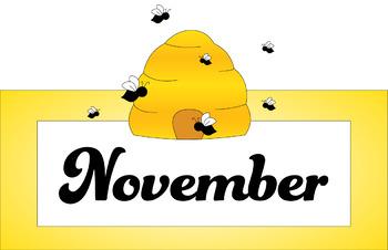 Bee Calendar Months