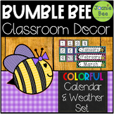 Bee Calendar and Weather Cards (Editable Cards Included)
