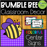 Bee Center Signs (Editable)