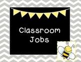 Bee Chalkboard Classroom job sign