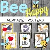 Bee Classroom Decor - ALPHABET POSTERS