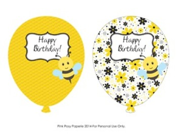 Bee Classroom Decor Birthday Balloons - 4 Different Designs