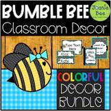 Bee Classroom Decor Bundle (Editable)