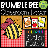 Bee Theme Color Posters