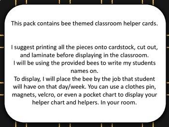 Bee Classroom Helpers
