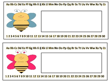 Bee Classroom Set(Classroom Rules, Center Signs, Alphabet Cards,etc)