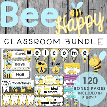Bee Classroom Theme BUNDLE