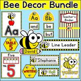 Bee Classroom Theme Decor Bundle: Name Tags, Word Wall, Teacher's Binder etc