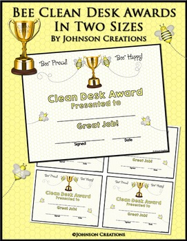 Bee Clean Desk Awards In Two Sizes