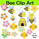 Bee Clip Art, Bumble Bee Clipart, Bee Hive Art, Summer Clip Art