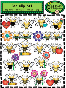 Bee Clip Art - Personal and Commercial Use