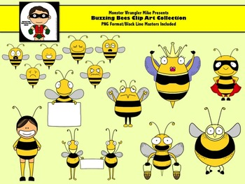 Buzzing Bee Clip Art Collection