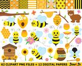 Bee Clipart Bees clip art Honey honeycomb Image Bee clipar