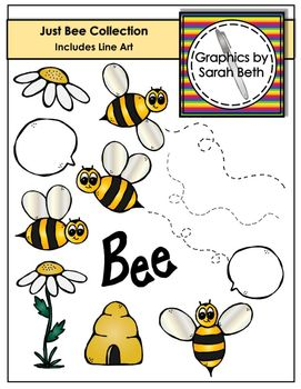 Bee Clipart - Just Bee Collection - Graphics