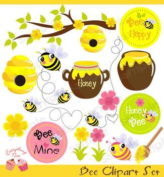 Bee Clipart Set