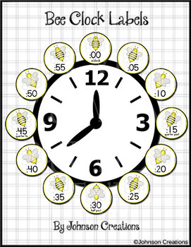 Bee Clock Labels