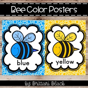 Bee Color Posters