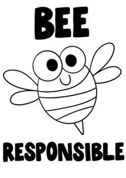 Bee Kind Coloring Page Worksheets Teaching Resources Tpt