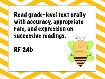 Bee Common Core Posters 2nd grade