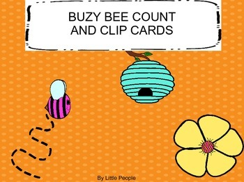Bee Count Clip Cards 1-20
