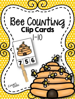 Bee Counting 1-10 Clip Cards