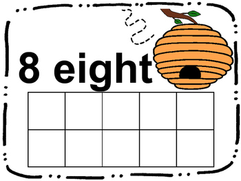 Bee Counting Ten Frames 1-10