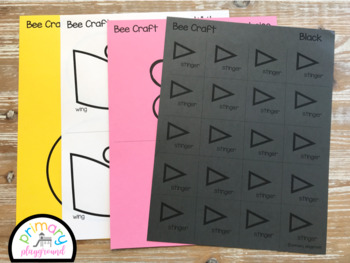 Bee Craft With Writing Prompts/Pages