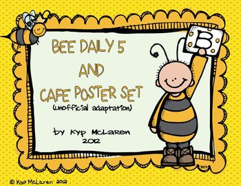 Bee Daily 5, I - Charts and CAFE Poster Set (unofficial adaptation)