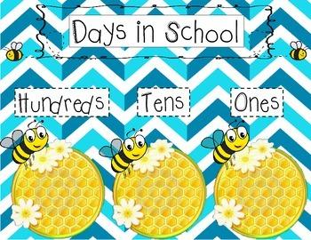 Bee Days in School Chart
