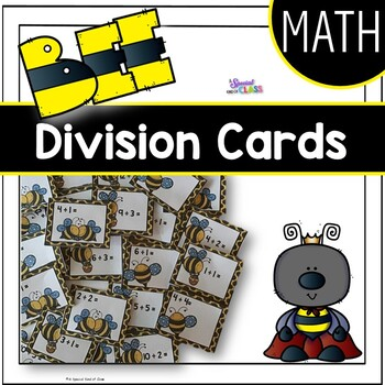 Bee Division Flash Cards