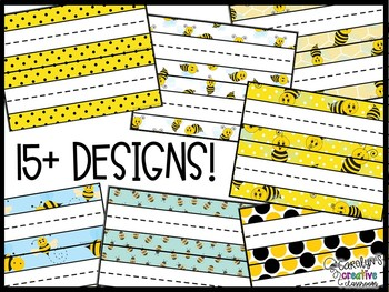 Bee Editable Cubby Labels - Bee Cubby Labels