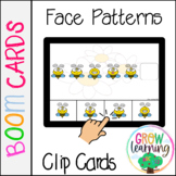 Bee Emotions Patterns Clip Cards BOOM Cards™️ Digital Distance Learning