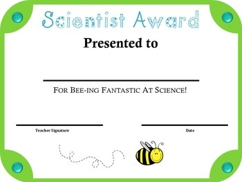 100+ Bee Theme End of the Year Student Awards & Certificates: Grades K-5